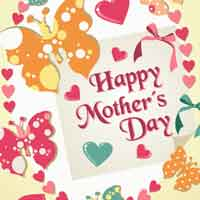 Thumbnail image for Mother's Butterfly Heart Card
